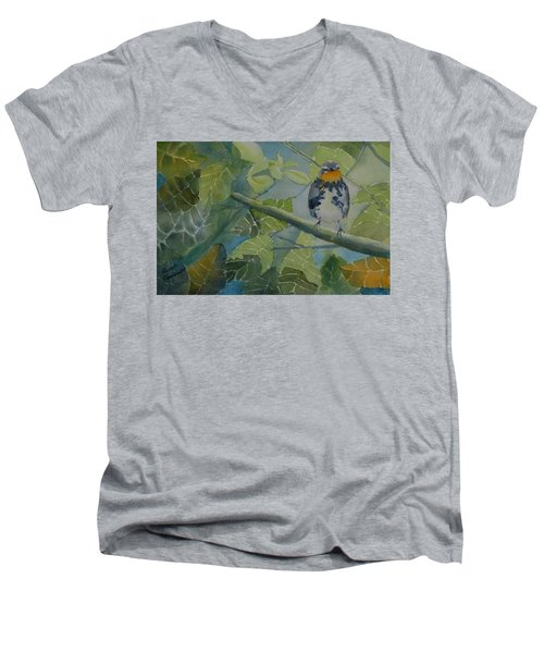 Blackburnian Warbler I Men's V-Neck T-Shirt
