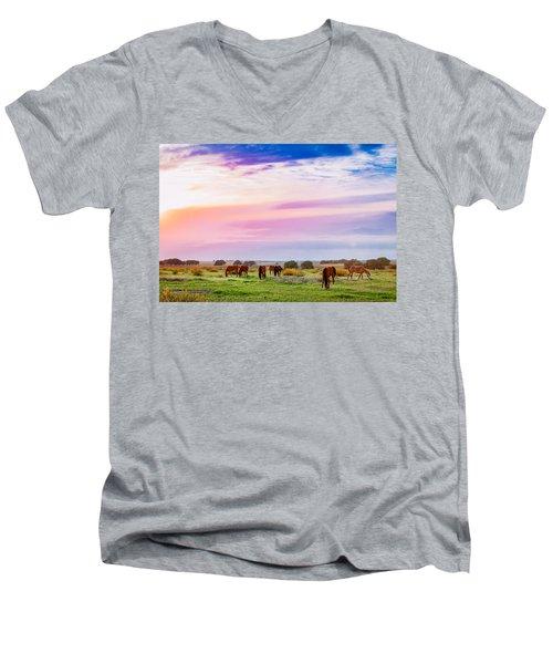Blazing Sky Diner Men's V-Neck T-Shirt