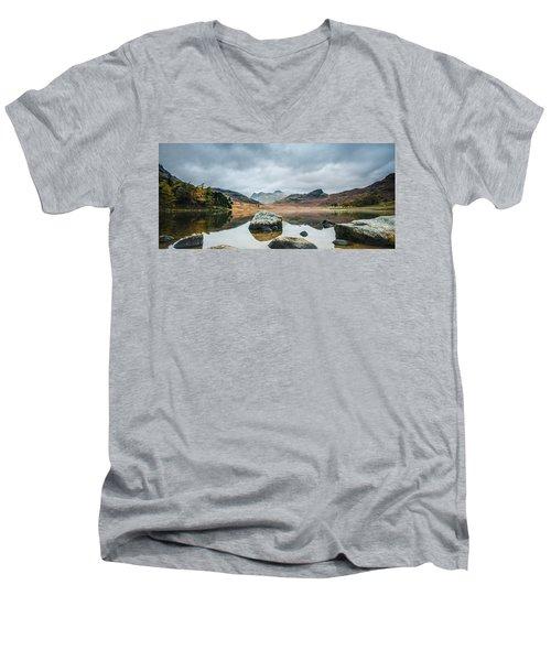 Blea Tarn In Cumbria Men's V-Neck T-Shirt