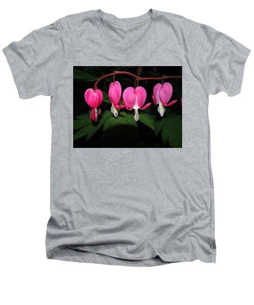 Bleeding Hearts Men's V-Neck T-Shirt