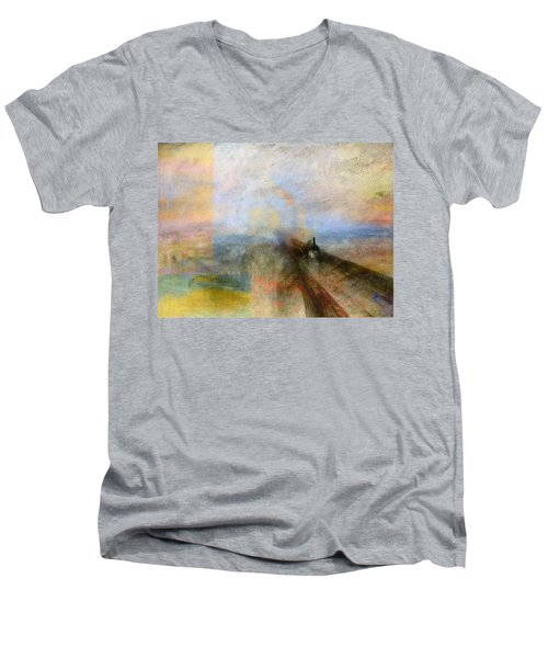 Blend 5 Turner Men's V-Neck T-Shirt by David Bridburg