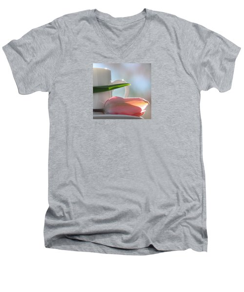 Men's V-Neck T-Shirt featuring the photograph Bliss by Angela Davies