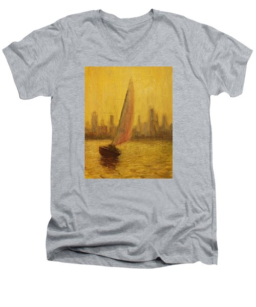 Blissful Sail Men's V-Neck T-Shirt