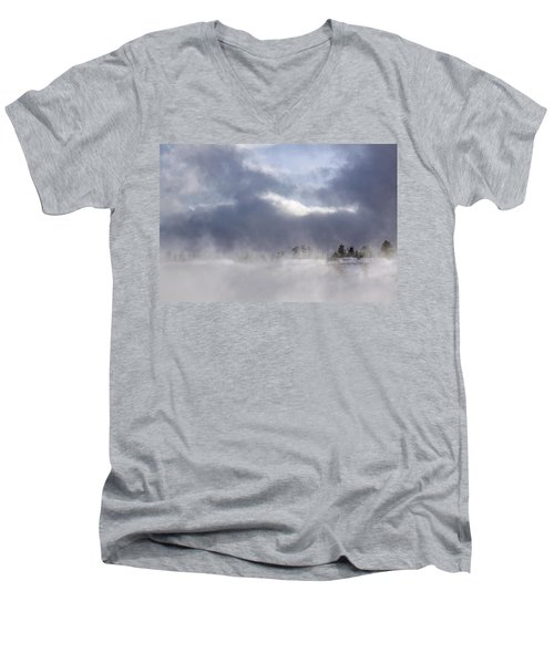 Blizzard In Bryce Canyon Men's V-Neck T-Shirt