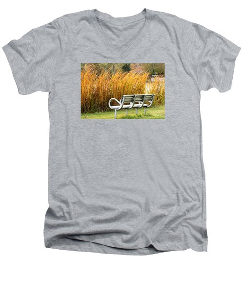 Blocked By The Bush Men's V-Neck T-Shirt