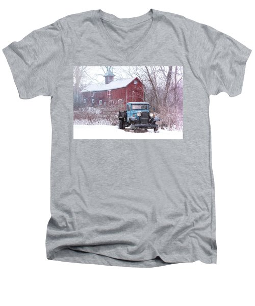 Blocked Men's V-Neck T-Shirt by Nicki McManus