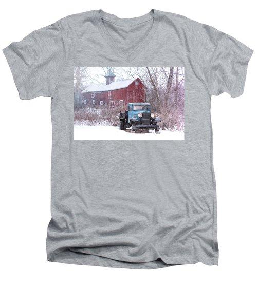 Blocked Men's V-Neck T-Shirt