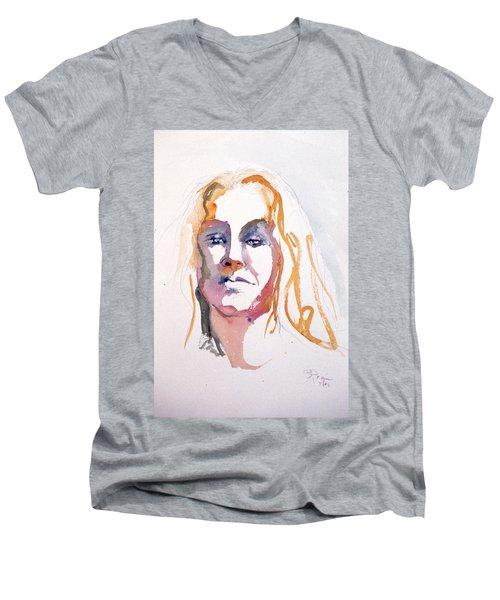 Blonde #1 Men's V-Neck T-Shirt