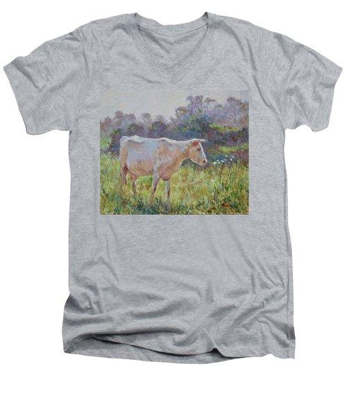 Blonde D'aquitaine Men's V-Neck T-Shirt