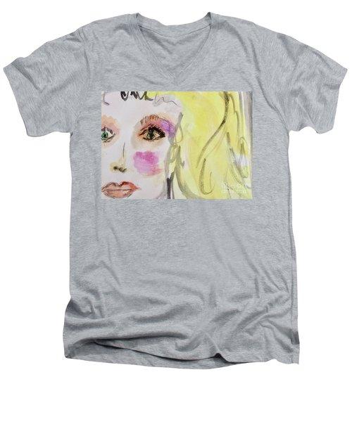 Blonde Men's V-Neck T-Shirt