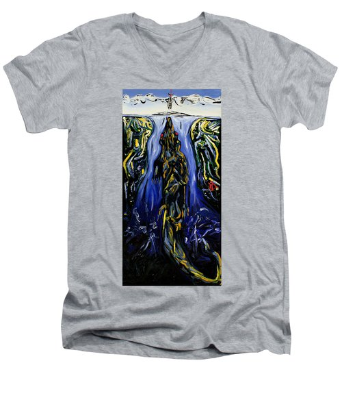 Blood Gulch Men's V-Neck T-Shirt