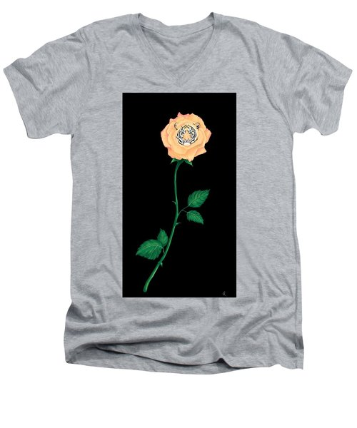Blooming Bengal Men's V-Neck T-Shirt