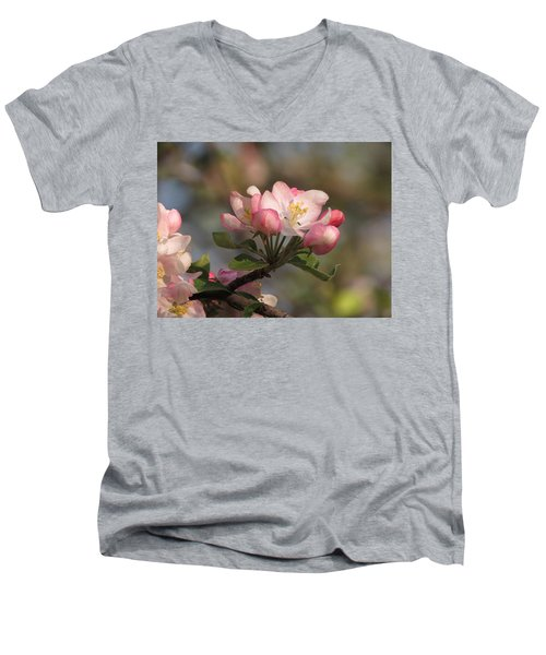 Men's V-Neck T-Shirt featuring the photograph Blooming by Kimberly Mackowski