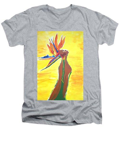 Blooming Men's V-Neck T-Shirt