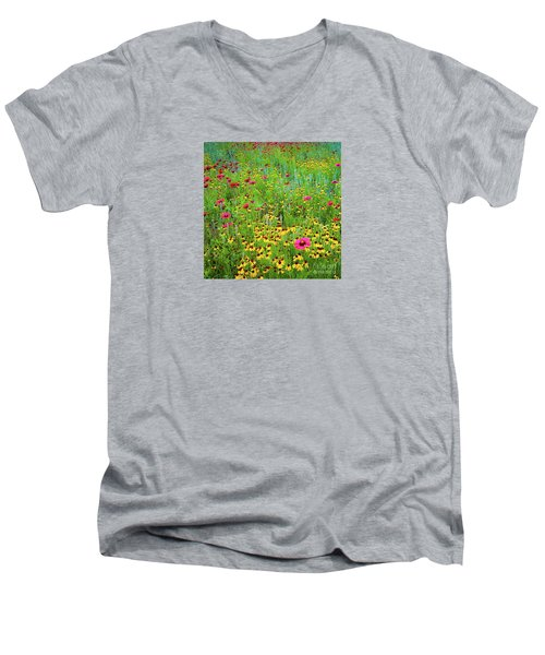 Blooming Wildflowers Men's V-Neck T-Shirt