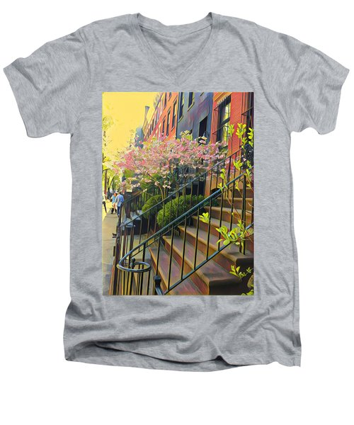 Blooms Of New York Men's V-Neck T-Shirt