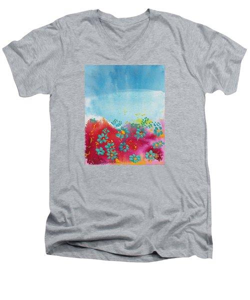 Blooms Men's V-Neck T-Shirt by Shelley Overton