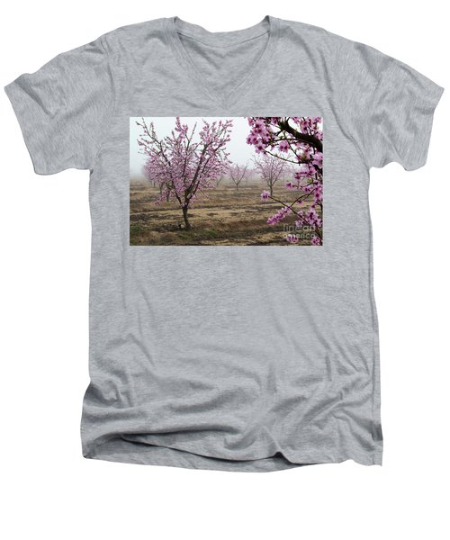 Men's V-Neck T-Shirt featuring the photograph Blossom Trail by Vincent Bonafede