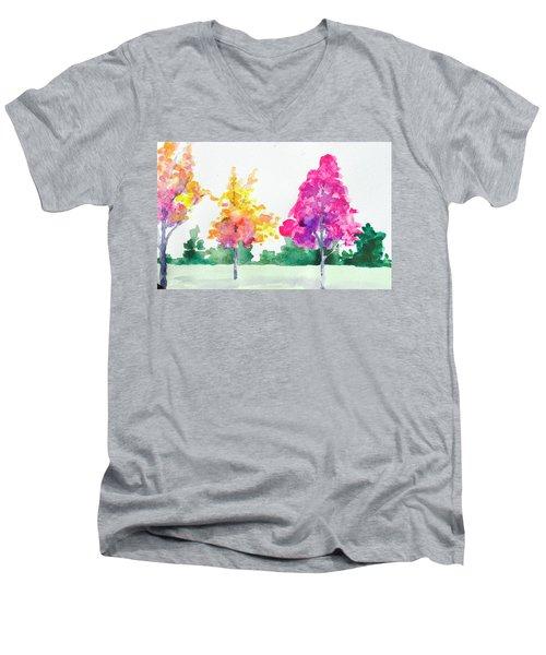 Blossom Trees Men's V-Neck T-Shirt