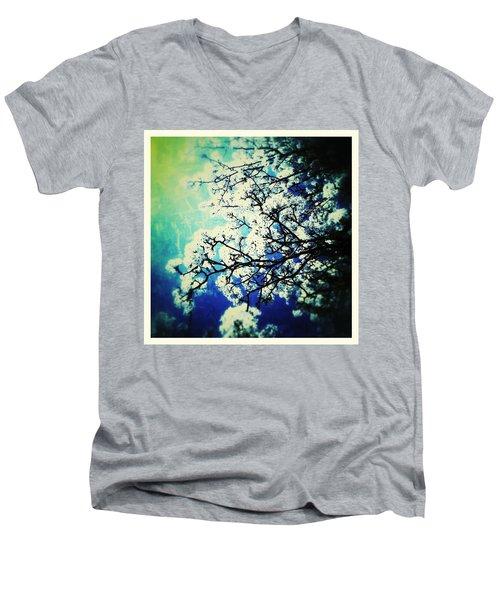 Blossoming Men's V-Neck T-Shirt