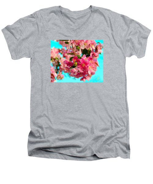 Blossoms And Bees Men's V-Neck T-Shirt