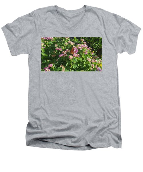 Blossoms And Wings #2 Men's V-Neck T-Shirt by Rachel Hannah