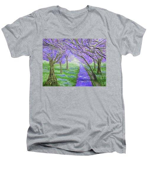 Blossoms Men's V-Neck T-Shirt by Angela Stout