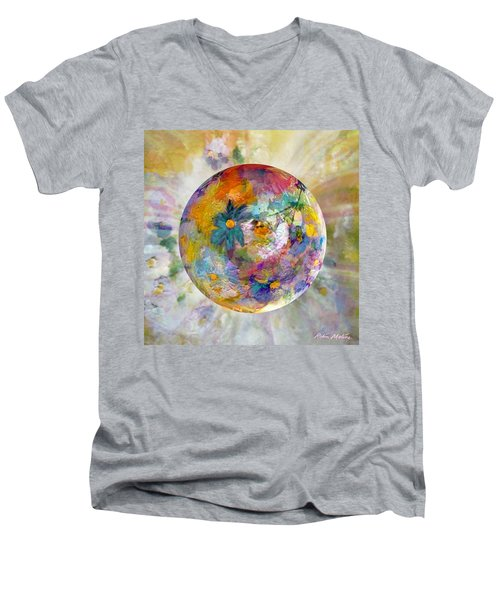 Blossoms In Pastel Men's V-Neck T-Shirt