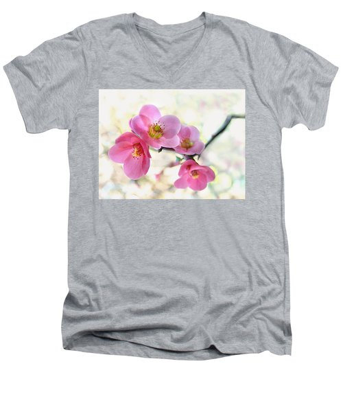 Blossoms Men's V-Neck T-Shirt by Marion Cullen