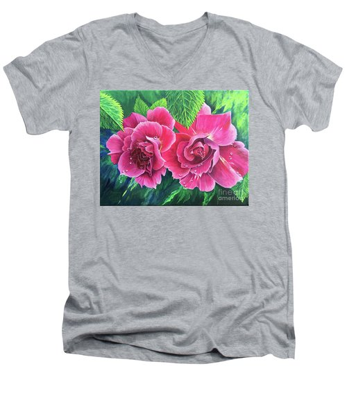 Blossom Buddies Men's V-Neck T-Shirt