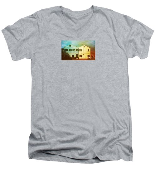 Men's V-Neck T-Shirt featuring the photograph Blowing In The Wind by Anne Kotan