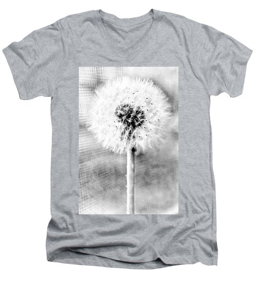 Blowing In The Wind Pencil Effect Men's V-Neck T-Shirt