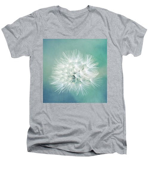 Men's V-Neck T-Shirt featuring the photograph Blue Awakening by Trish Mistric