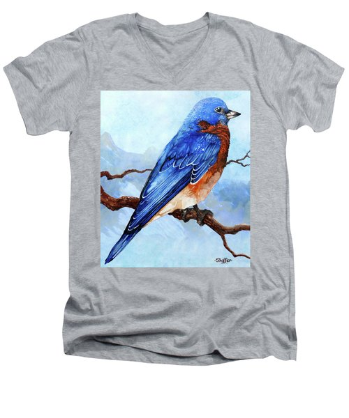 Blue Bird Men's V-Neck T-Shirt