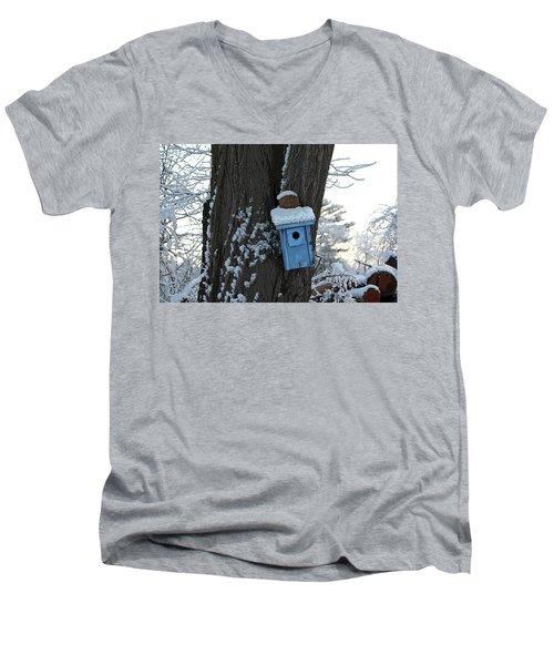 Blue Birdhouse Men's V-Neck T-Shirt