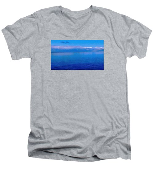 Blue Blue Sea Men's V-Neck T-Shirt by Vicky Tarcau
