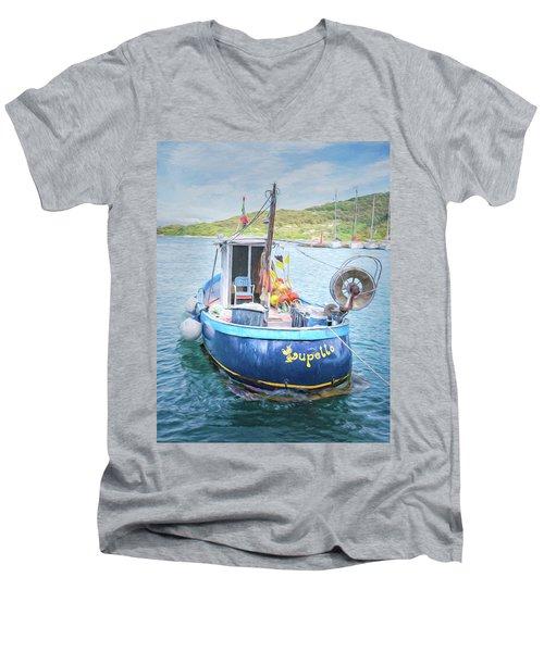 Blue Boat Men's V-Neck T-Shirt