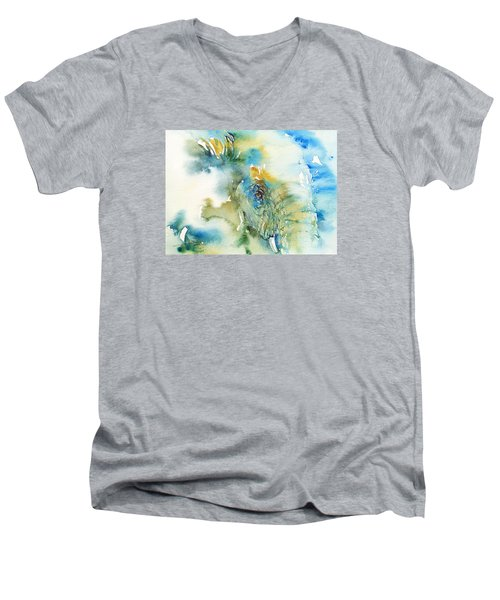 Blue Boy_ Elephant Men's V-Neck T-Shirt