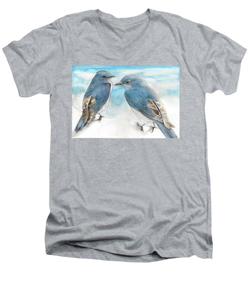 Blue Boys Men's V-Neck T-Shirt