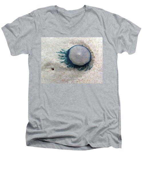 Blue Button #2 Men's V-Neck T-Shirt