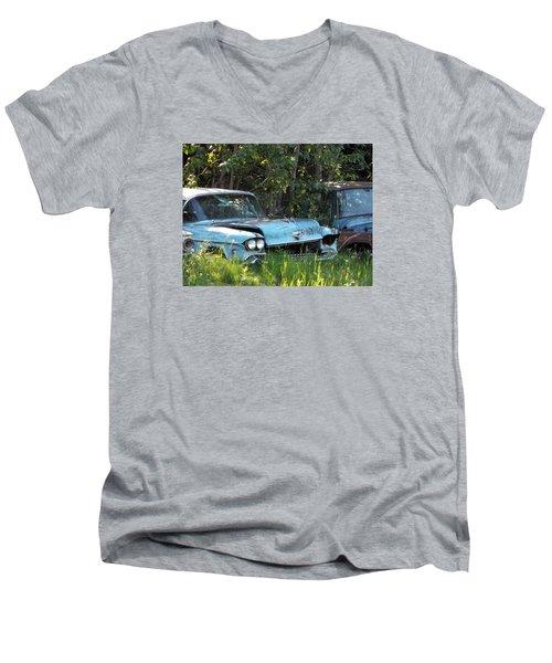 Blue Cadillac Men's V-Neck T-Shirt