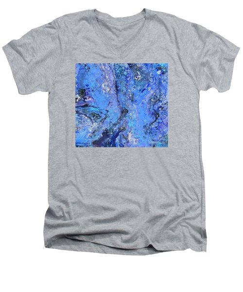 Blue Capri Men's V-Neck T-Shirt
