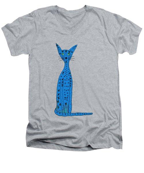 Blue Cat Men's V-Neck T-Shirt