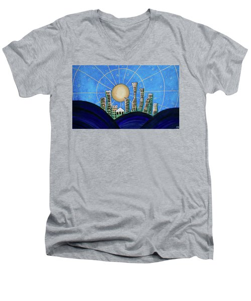 Blue City  Men's V-Neck T-Shirt