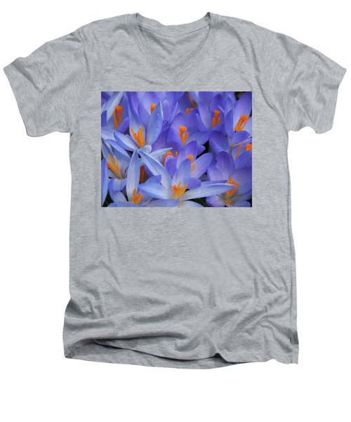 Blue Crocuses Men's V-Neck T-Shirt