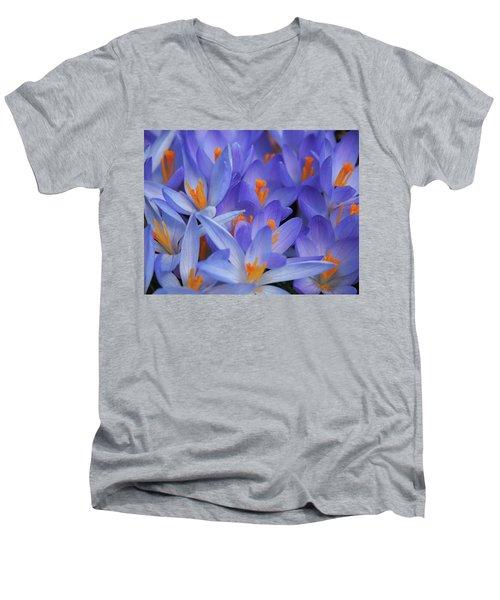 Blue Crocuses Men's V-Neck T-Shirt