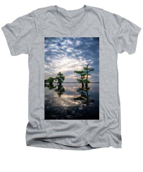 Blue Cypress Sunrise #1 Men's V-Neck T-Shirt