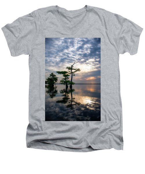 Blue Cypress Sunrise #2 Men's V-Neck T-Shirt