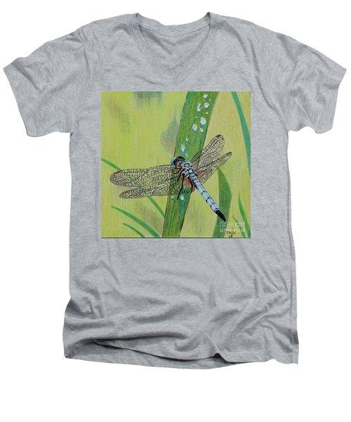 Blue Dasher Men's V-Neck T-Shirt