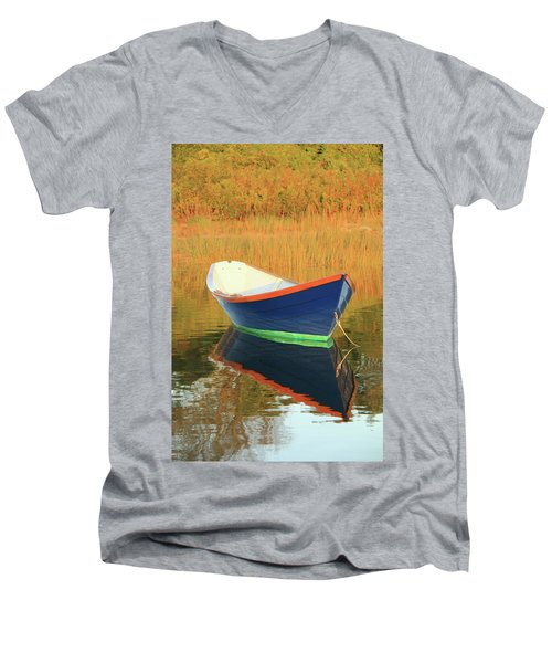 Men's V-Neck T-Shirt featuring the photograph Blue Dory by Roupen  Baker
